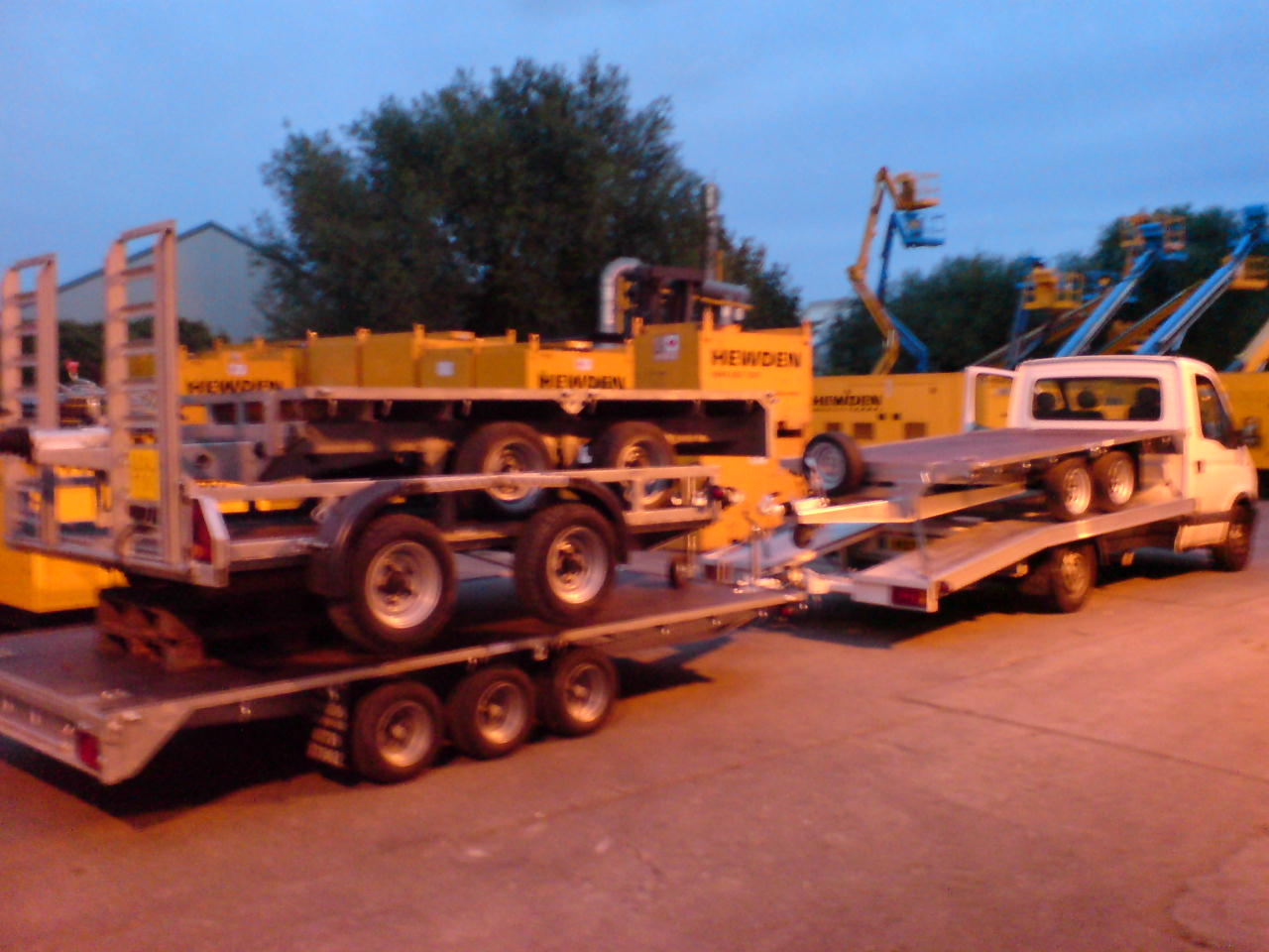 Four Flatbed Trailers on Hire to Hewden PLC.